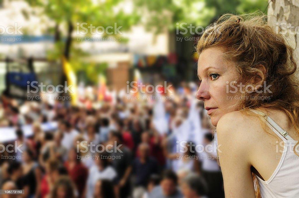 Street Demonstration royalty-free stock photo