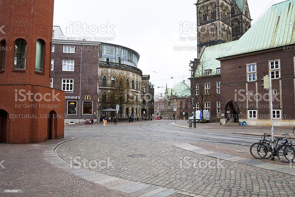 Street DOmsheide in Bremen stock photo