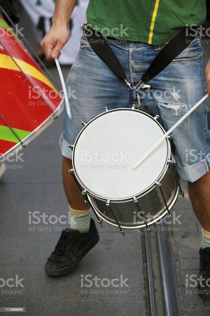 street drummer stock photo