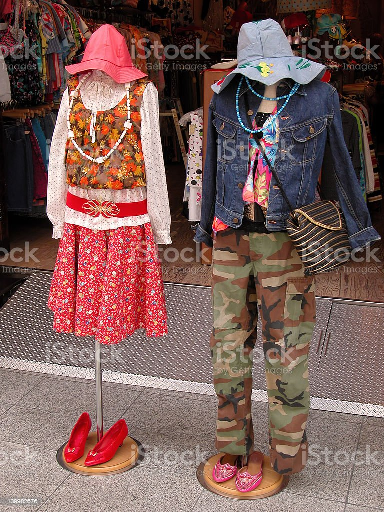 Street fashion royalty-free stock photo