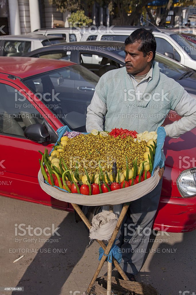 street fast food at in new delhi india royalty-free stock photo