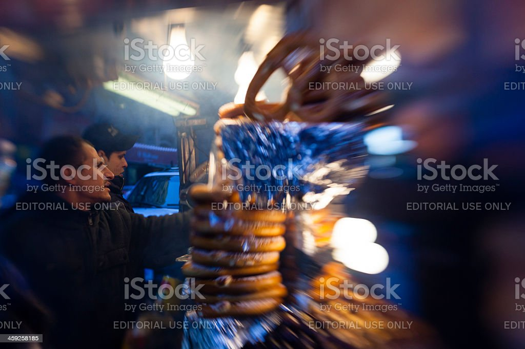 Street fastfood sellers in Manhattan. royalty-free stock photo