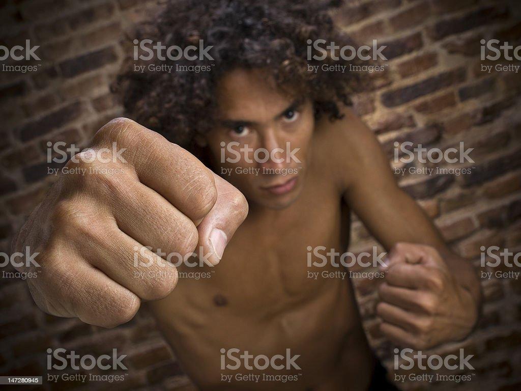 Street fighter stock photo