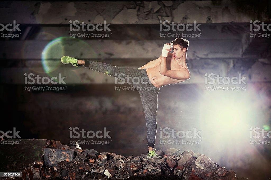 Street Fighter Training stock photo