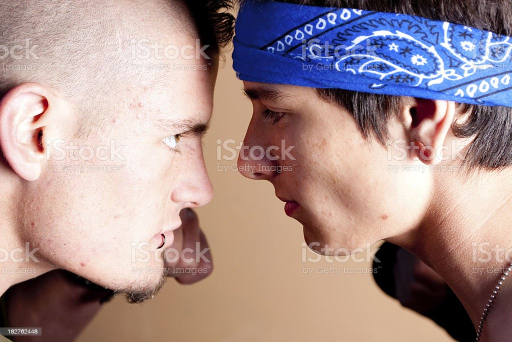 Street fighters royalty-free stock photo