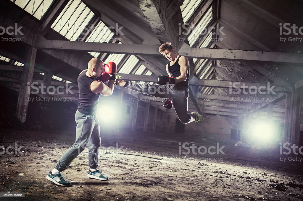 Street Fighters stock photo