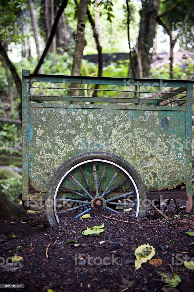Street food cart derelict Bali Indonesia Asia stock photo
