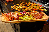 Street food grilled