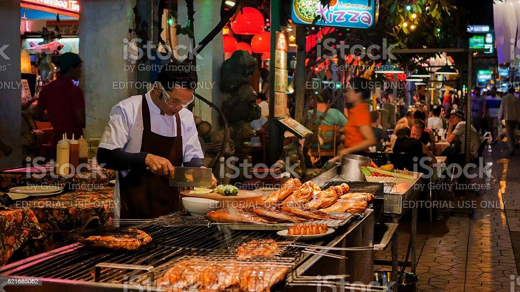 Street Food in Bangkok, Thailand stock photo