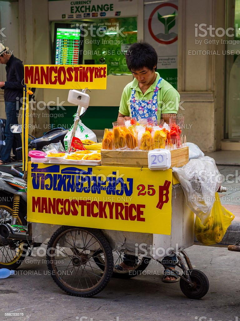 Street Food in Bangkok, Thailand stock photo