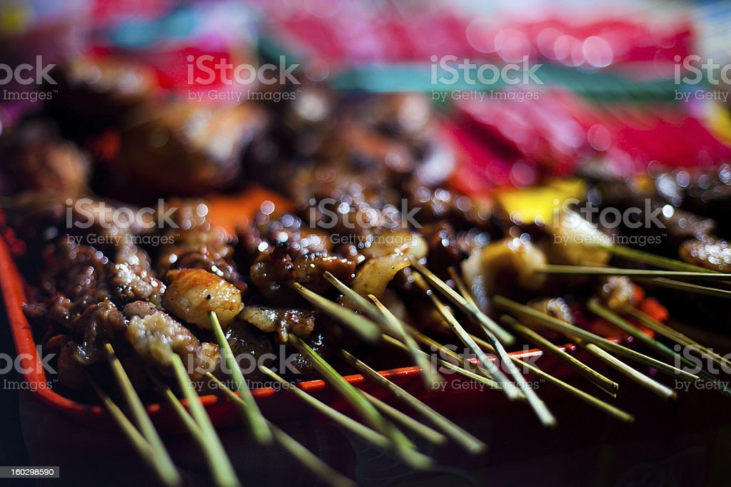 Street food in Philippines - Skewers royalty-free stock photo