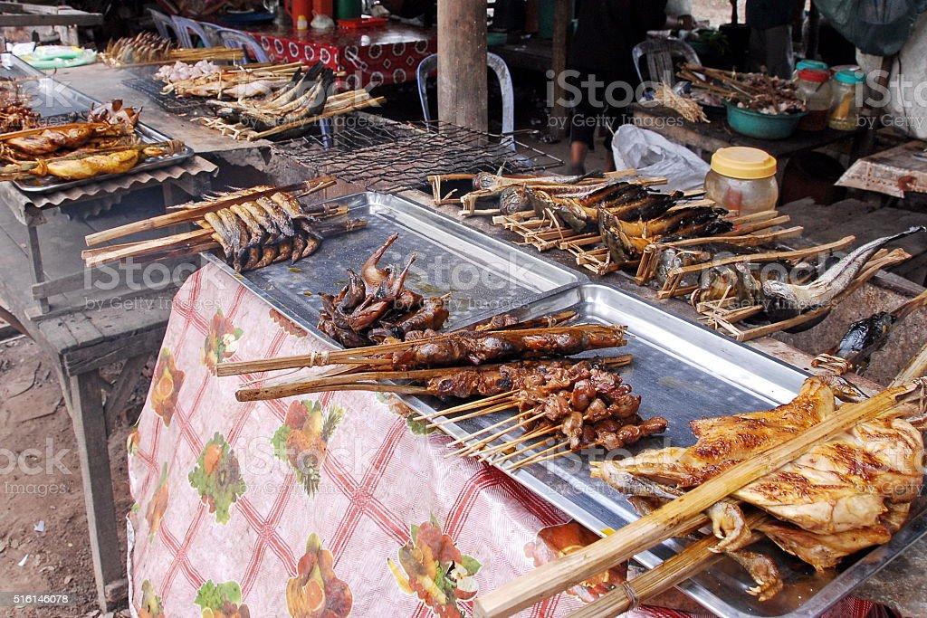 Street food in Siem Reap, Cambodia. stock photo