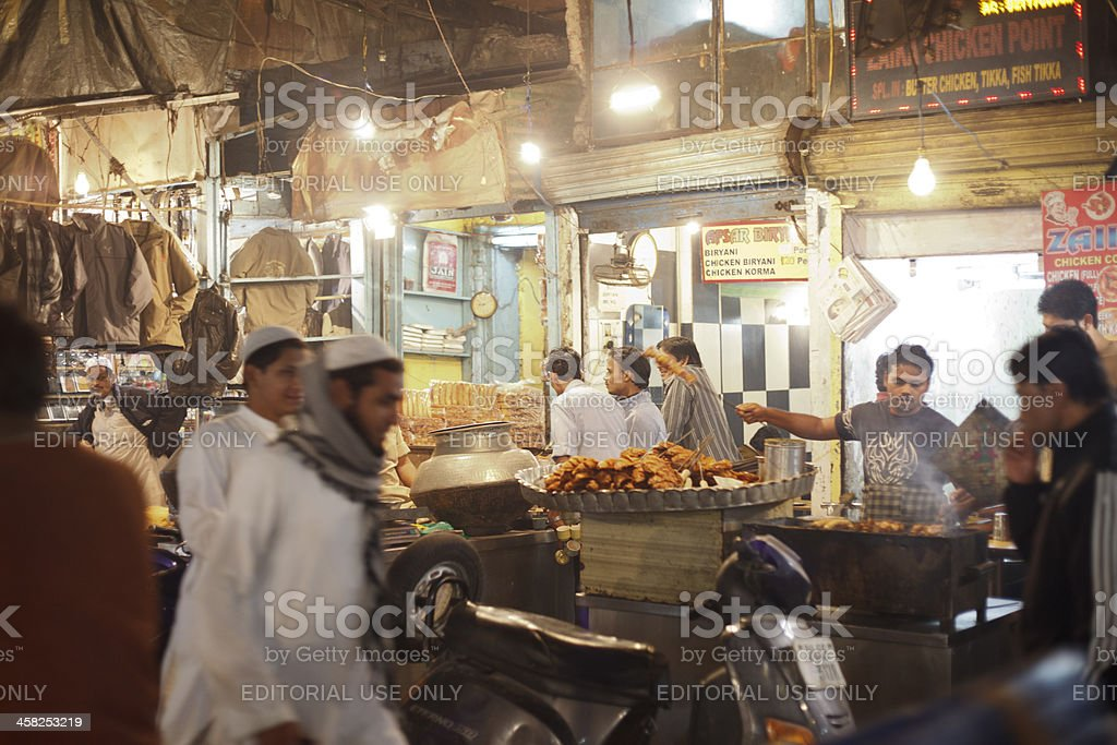 Street Food in the Night Market royalty-free stock photo
