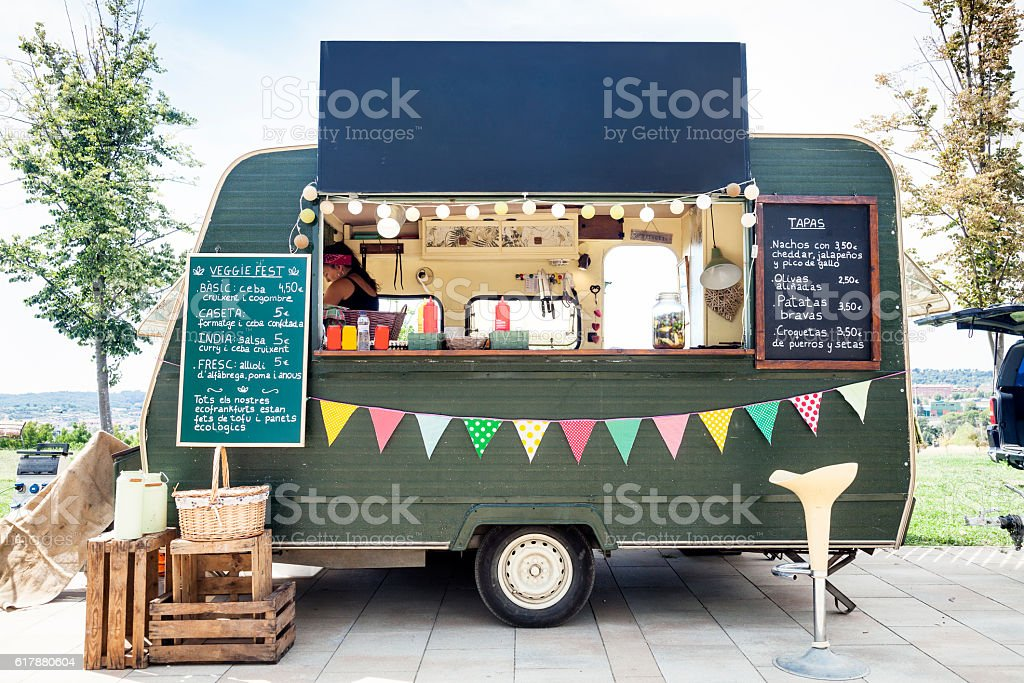 Street Food in the park stock photo