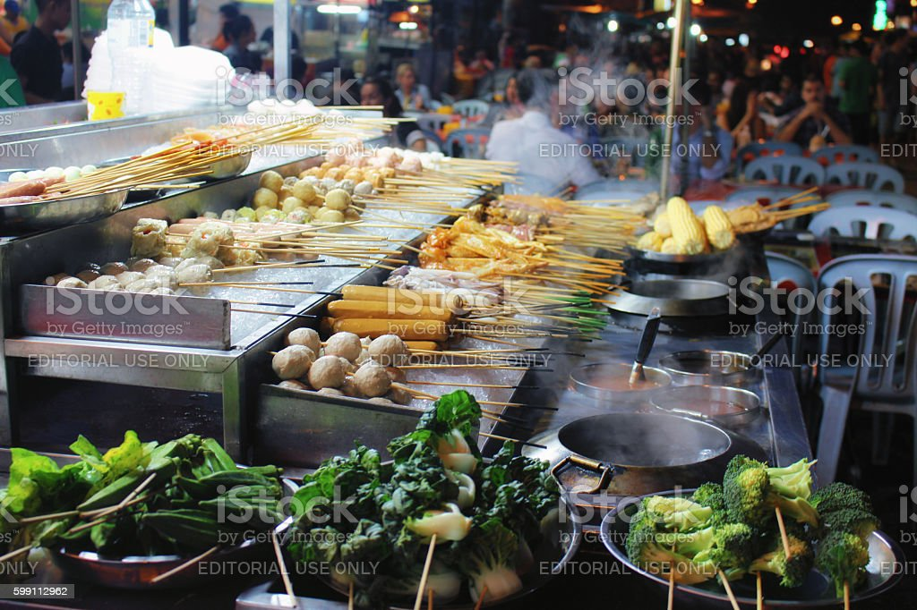 Street food Kuala Lumpur stock photo