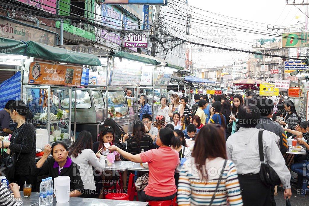 Street food market royalty-free stock photo