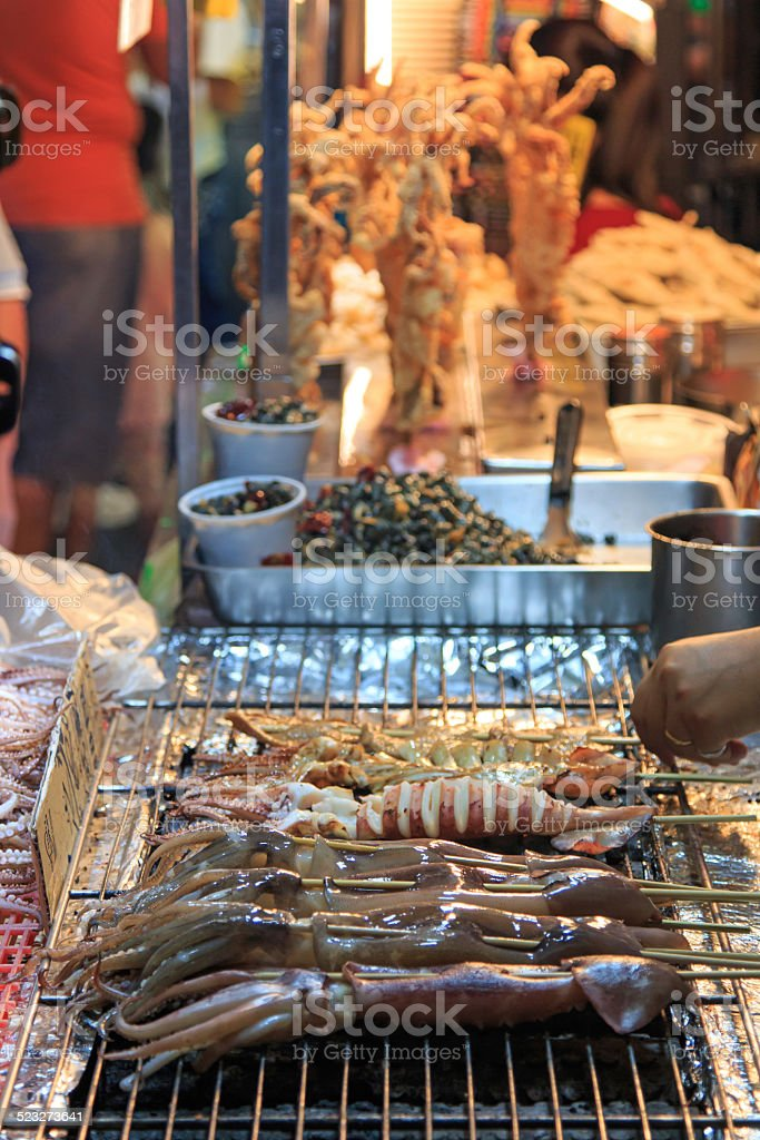 Street food market, Taiwan , Kenting stock photo