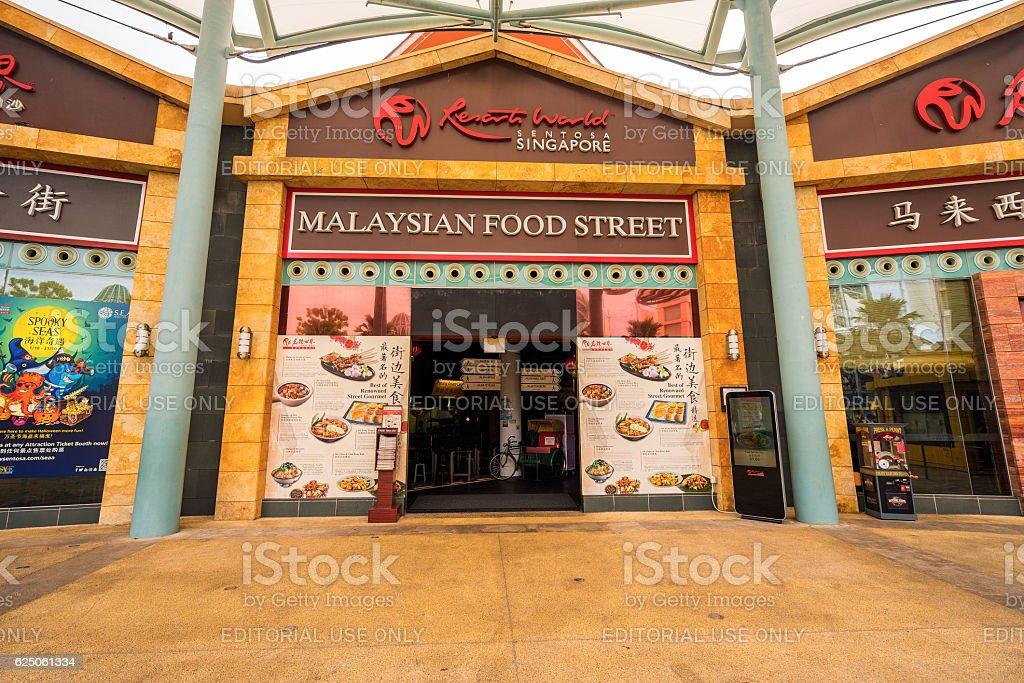 street food of many countries at Sentosa island Singapore stock photo