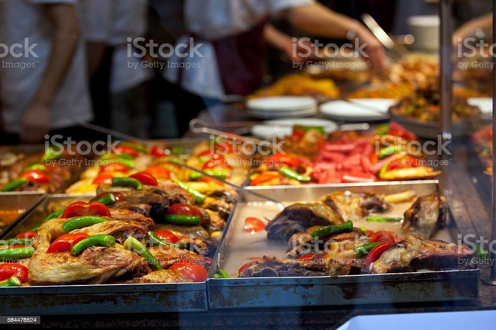 Street food restaurant stock photo