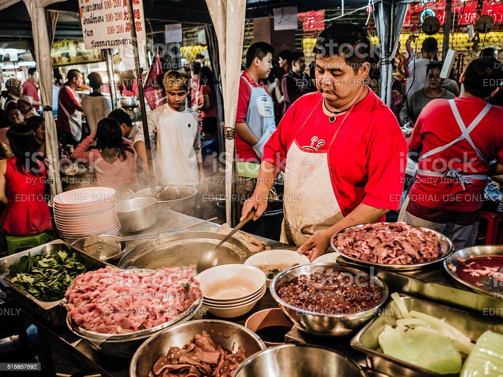 Street food stall Chinatown Bangkok stock photo