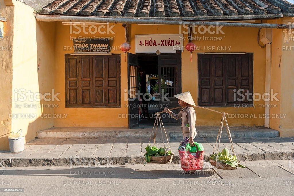 Street food vendor in Hoi An, Vietnam stock photo