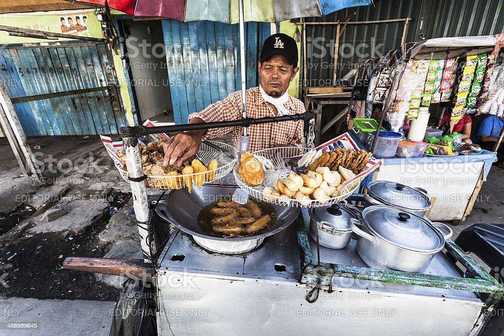 Street Food Vendor in Jakarta, Indonesia stock photo