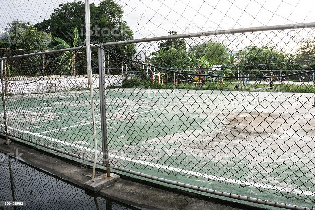 Street football field. stock photo