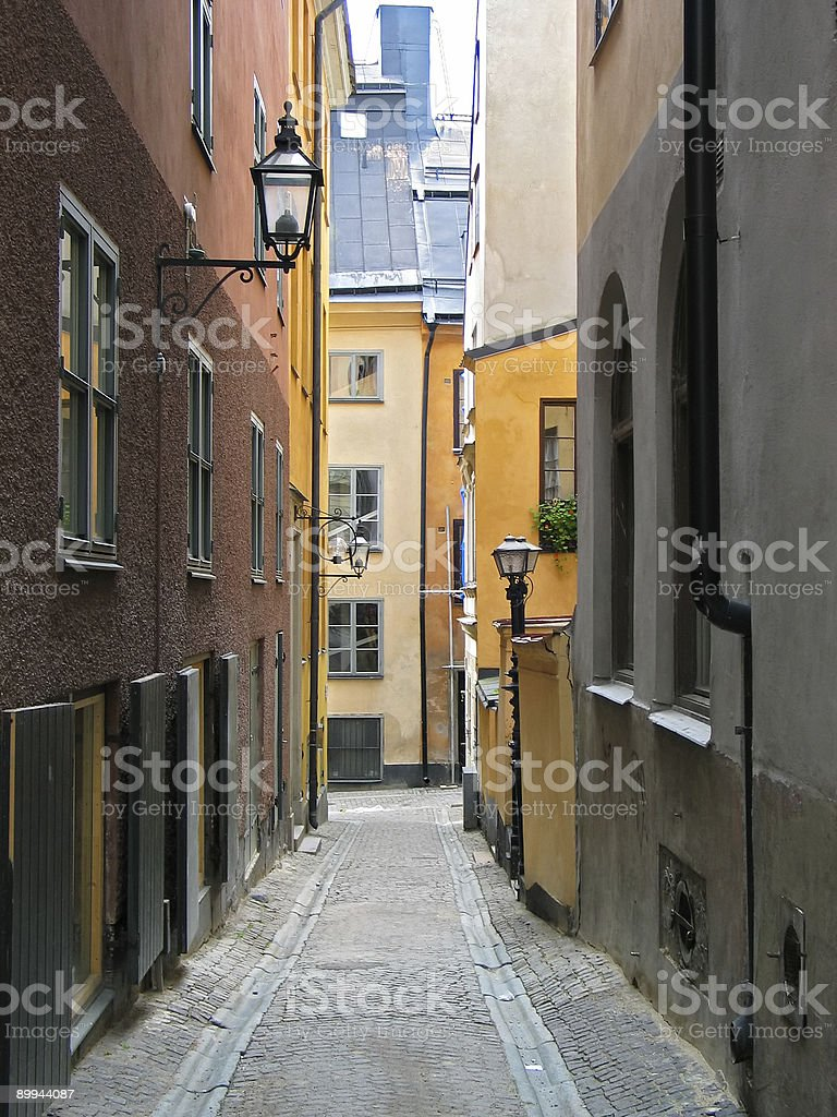 street from fairy tail royalty-free stock photo