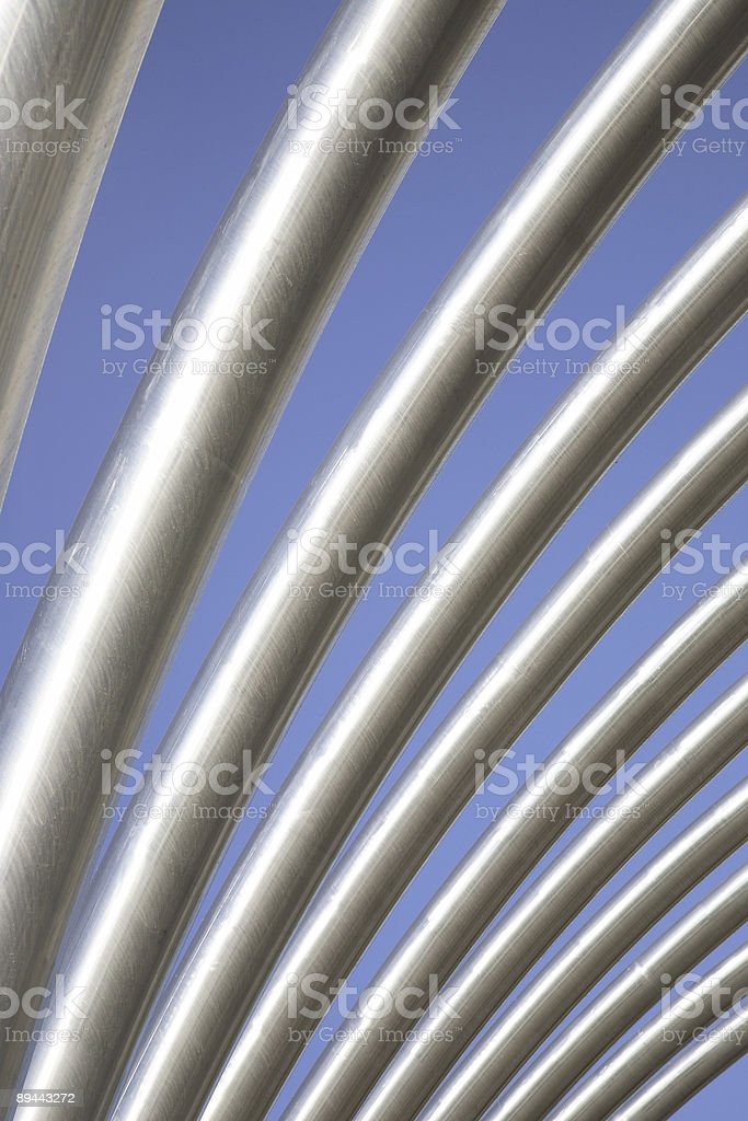 Street Furniture over M30 in Madrid, Spain royalty-free stock photo