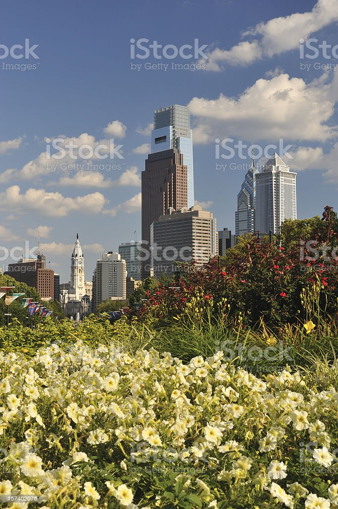 Street Garden in Philly stock photo