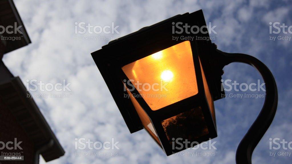 street gas lamp stock photo