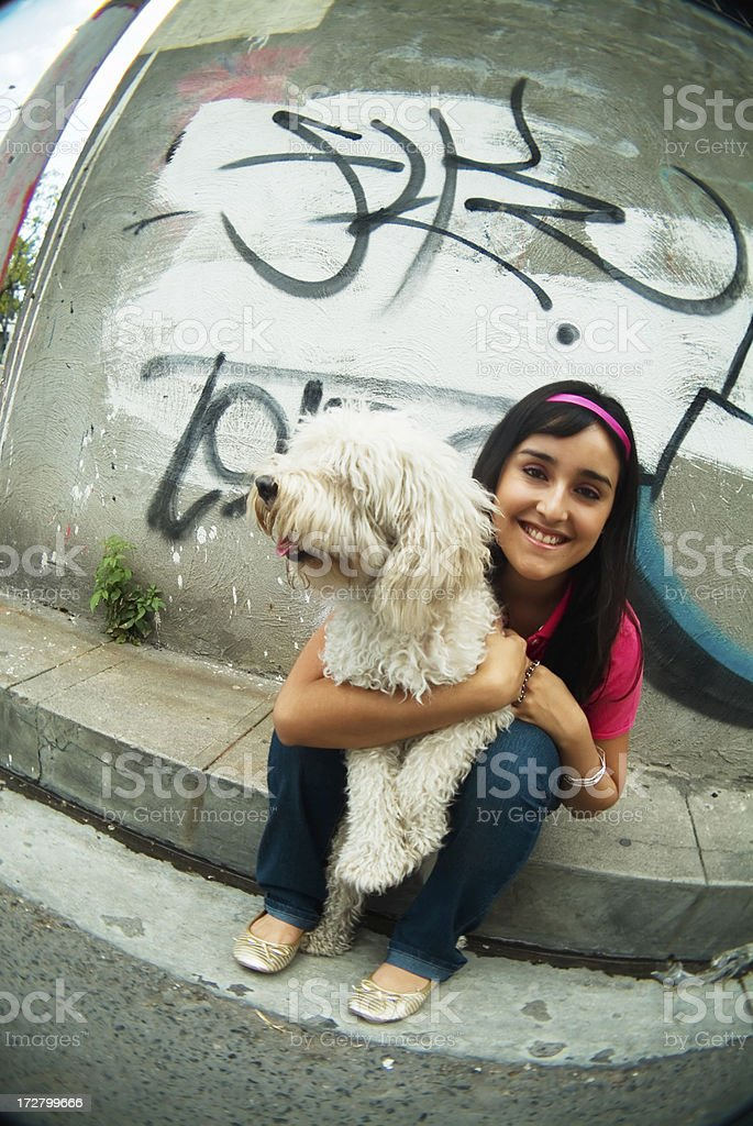 Street girl royalty-free stock photo