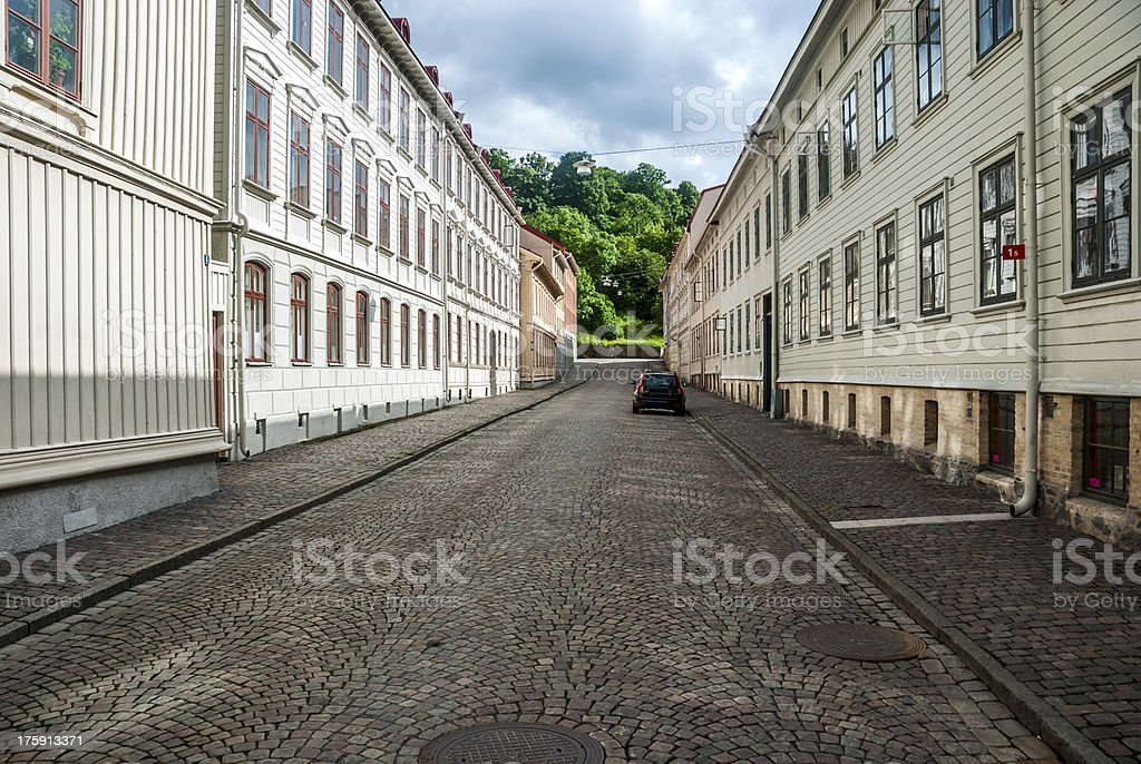 Street Gothenburg summer royalty-free stock photo