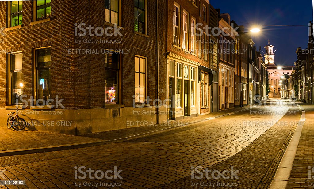 Street Grotekerksbuurt Dordrecht stock photo