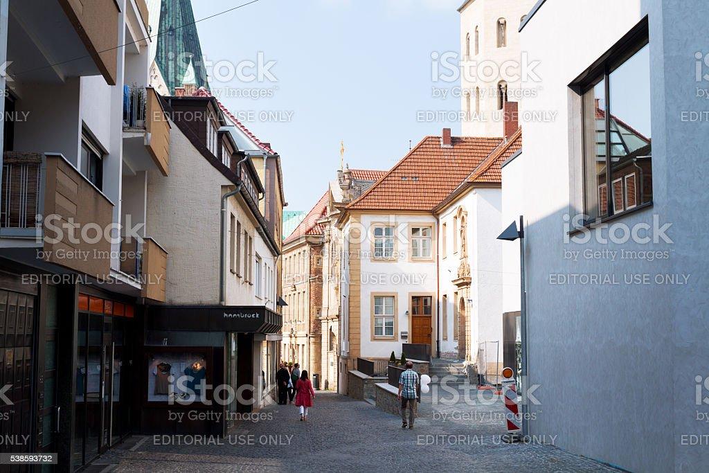 Street Grube in Paderborn stock photo