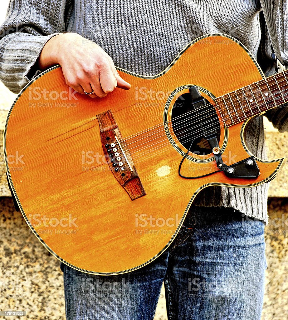 Street guitarist royalty-free stock photo