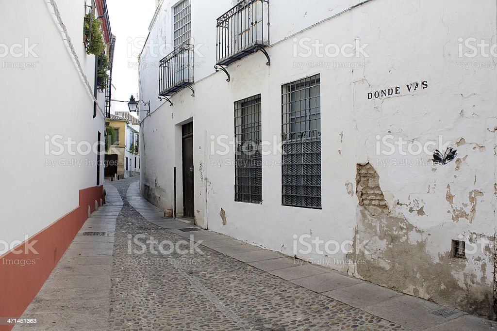 Street Historic District of Cordoba stock photo