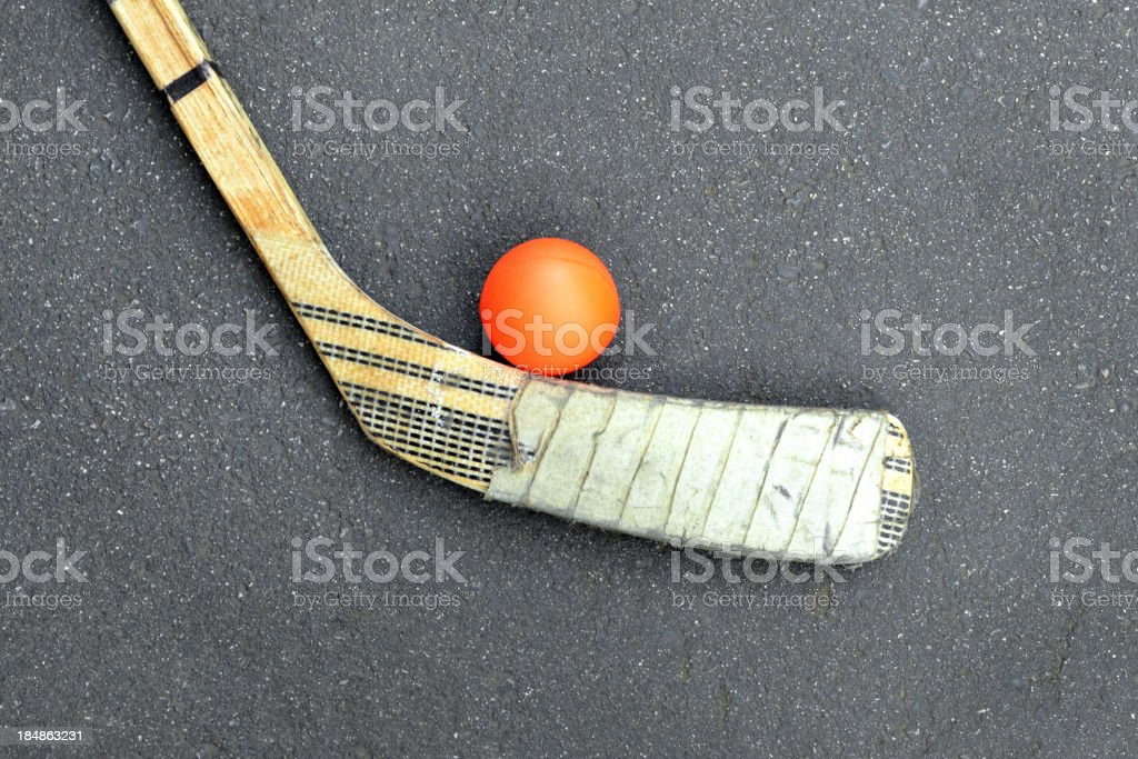 Street Hockey royalty-free stock photo