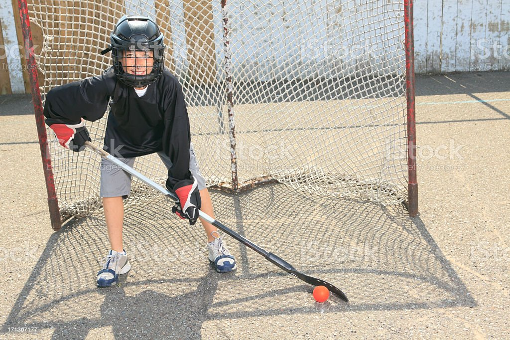 Street Hockey - Play royalty-free stock photo