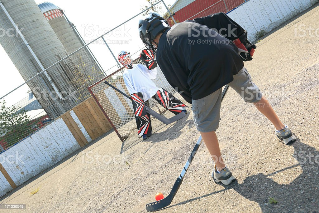 Street Hockey - Will Play stock photo