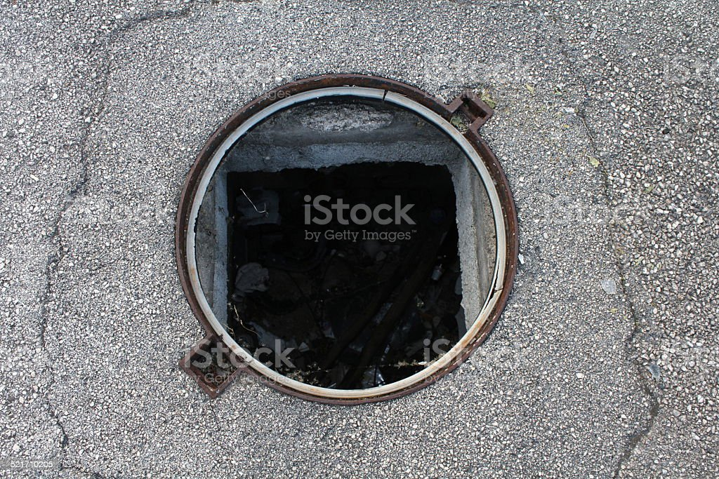 Street hole stock photo