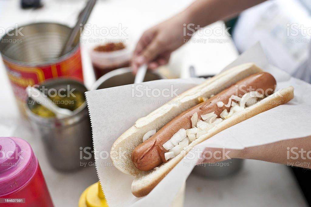 Street hot dog royalty-free stock photo