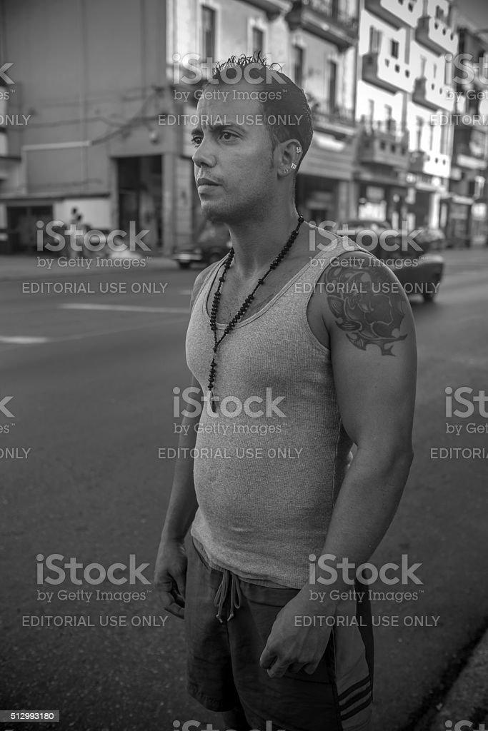 Street hustle on Calzada De Infanta stock photo