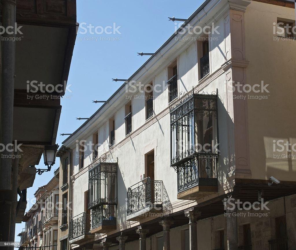 Street in an ancient city (Aranda de Duero) stock photo