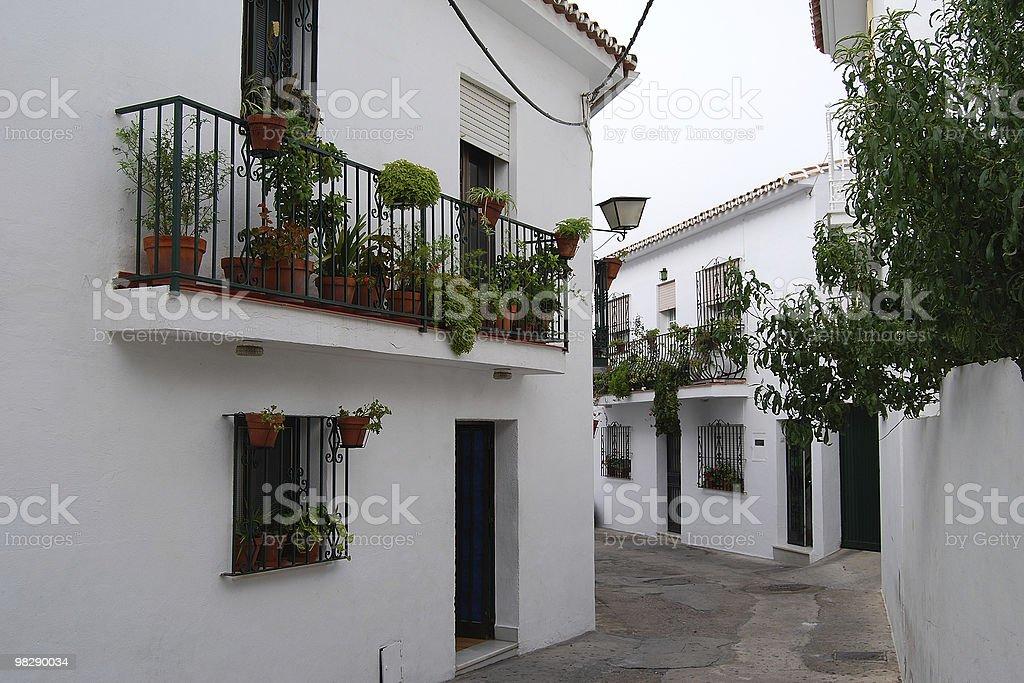 Street in Benalmadena. Spain royalty-free stock photo