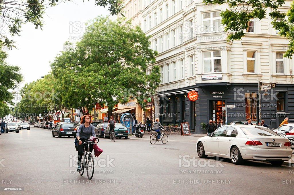 street in Berlin stock photo