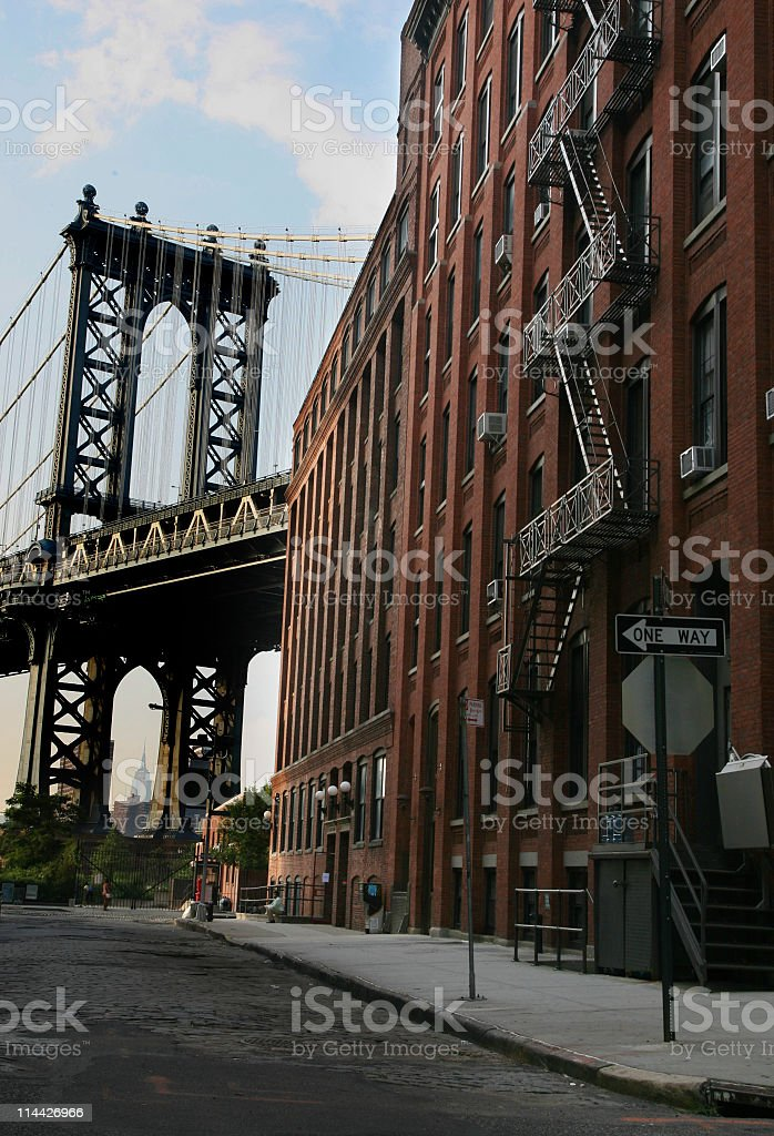 street in Brooklyn royalty-free stock photo