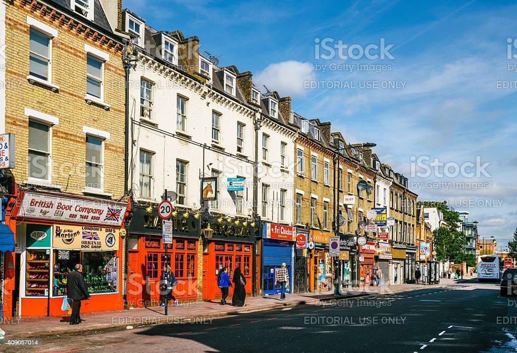 Street in Camden Town, London stock photo