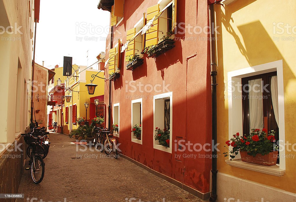 Street in Caorle royalty-free stock photo
