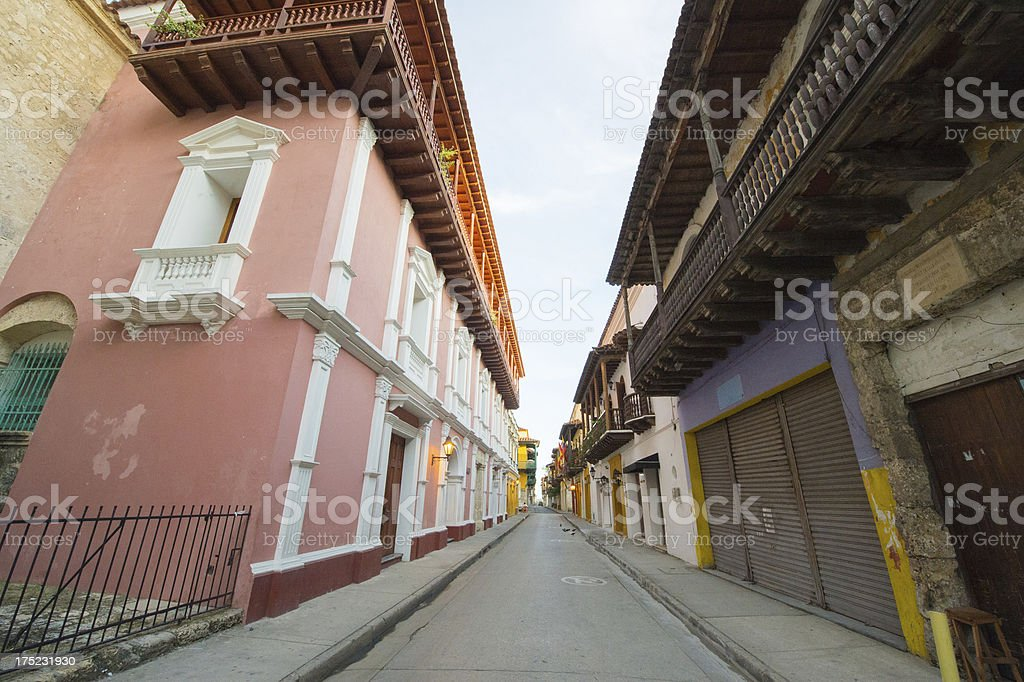 Street in Cartagena de Indias royalty-free stock photo